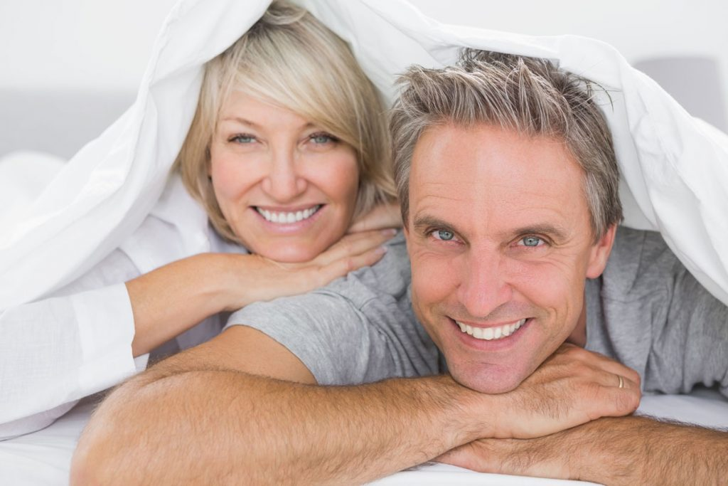 Smiling couple - age management
