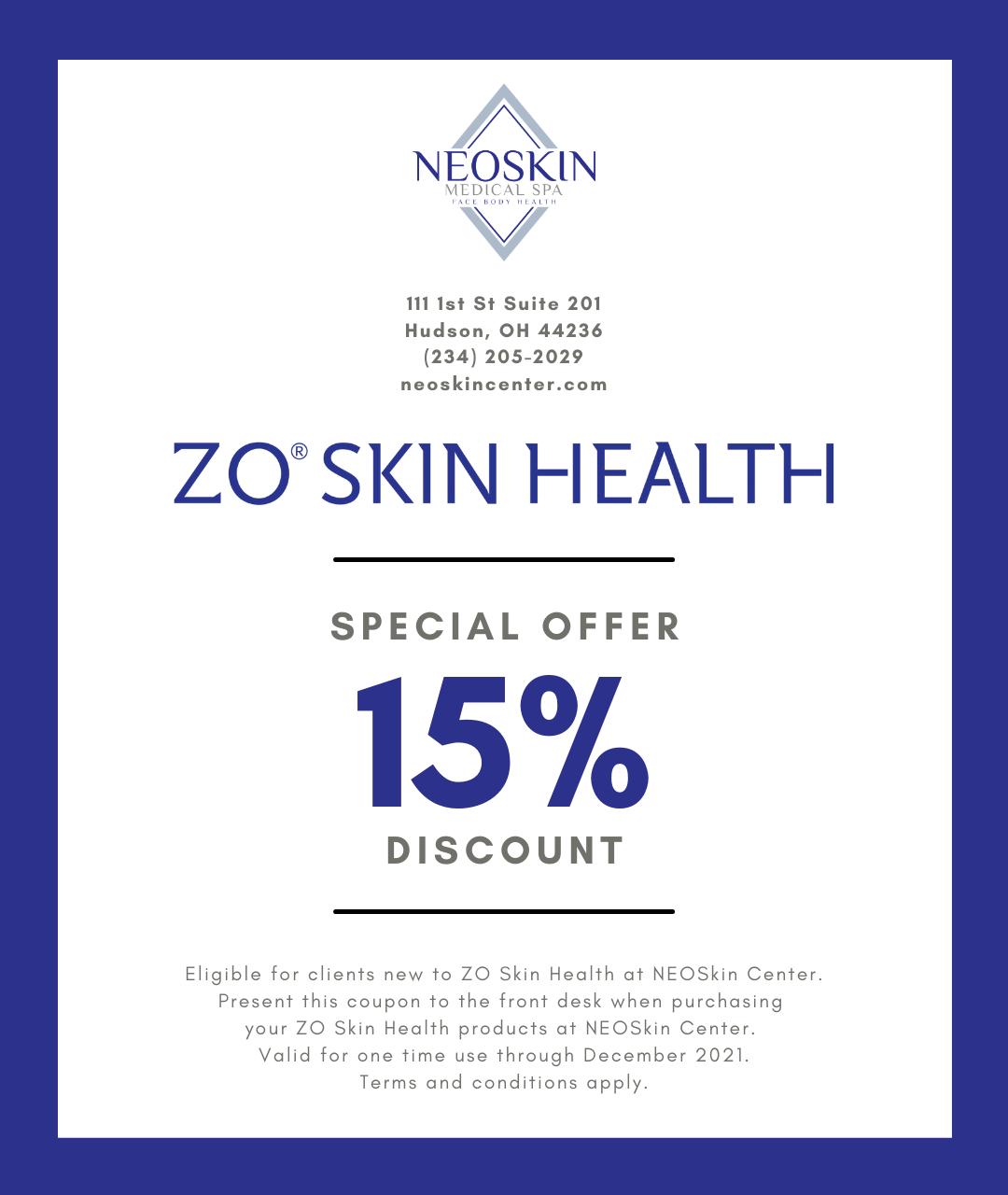 ZO Skin Health At NEOSKIN Center - Digital Coupon